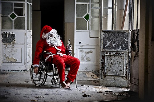 Babbo Natale stressato
